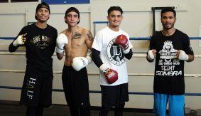 Joseph Diaz Jr., Roy Tapia and Nick Arce Los Angeles Media Workout Quotes & Photos