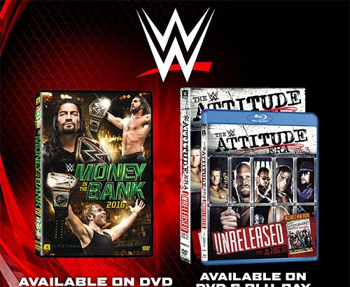Win Copies of WWE Money in the Bank & WWE Attitude Era Vol. 3 on DVD