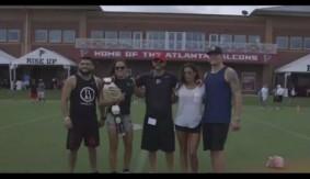 Amanda Nunes, Nina Ansaroff, Julianna Pena, Kelvin Gastelum Meet the Atlanta Falcons