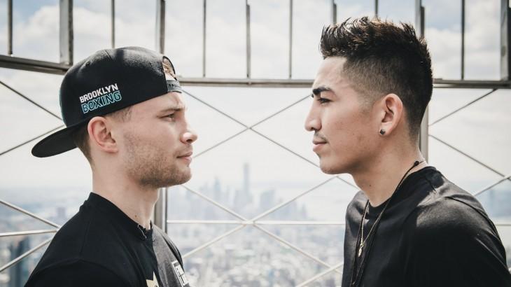 Leo Santa Cruz & Carl Frampton Face Off at the Empire State Building