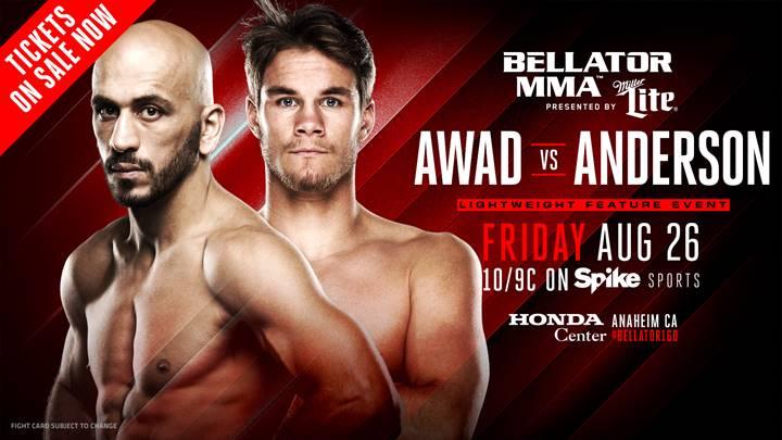 Saad Awad vs. Derek Anderson Set, Kimbo's Son Kevin Ferguson Jr. Debuts at Bellator 160