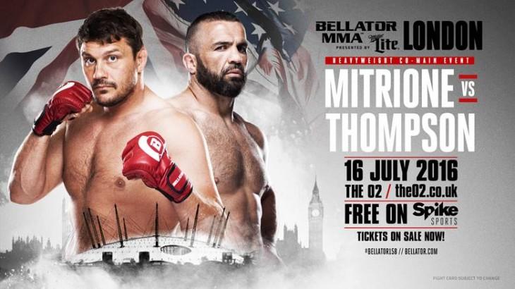Matt Mitrione vs. Oli Thompson Heavyweight Bout Official for Bellator 158: London on July 16