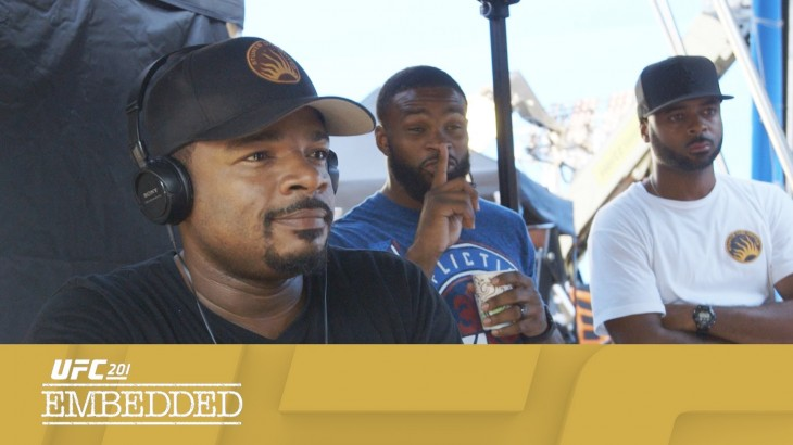 "UFC 201 Embedded: Vlog Series Episode 4 – Tyron Woodley's Friends in High Places – ""Fast 8"""