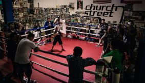 Leo Santa Cruz vs. Carl Frampton Fight Week Media Workout Quotes & Photos