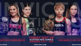 Jennifer Maia vs. Roxanne Modafferi & Ayaka Hamasaki vs. Jinh Yu Frey Title Fights Headline Invicta FC 19 on Sept. 23