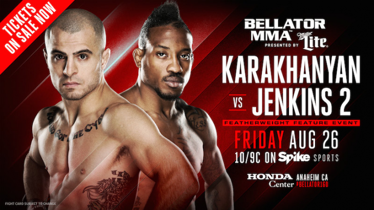 Georgi Karakhanyan vs. Bubba Jenkins 2 Moved to Bellator 160 Main Card on Aug. 26 in Anaheim