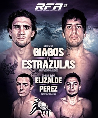 RFA 42: Giagos vs. Estrazulas Official Weigh-in Results – Watch RFA 42 LIVE TONIGHT at 10 p.m. ET on Fight Network