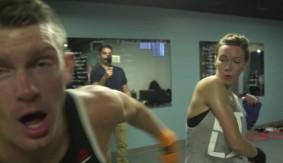 """Elias Theodorou & Stephen """"Wonderboy"""" Thompson Train the Actresses from """"Arrow"""""""