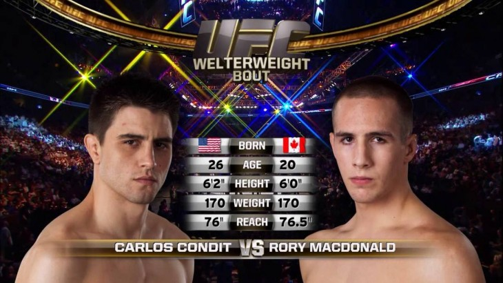 Full Fight – Carlos Condit vs. Rory MacDonald at UFC 115 from June 12, 2010