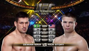Full Fight – Demian Maia Chokes Blood Out of Rick Story at UFC 154