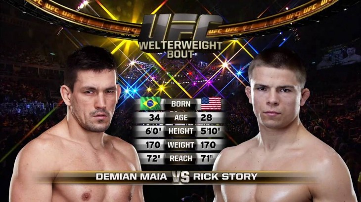 Full Fight – Demian Maia Chokes Blood Out of Rick Story at UFC 153