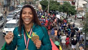 Triumphant Homecoming for Rio 2016 Gold Medalist Rafaela Silva