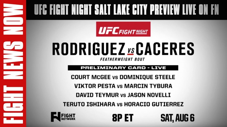 UFC Fight Night Salt Lake City Prelims Preview on Fight News Now – Watch LIVE Sat. on FN Canada