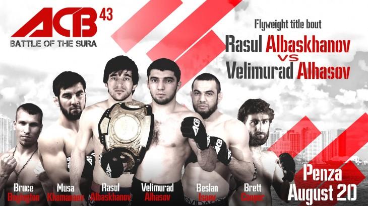 Watch LIVE Sat. at 11 a.m. ET – Absolute Championship Berkut 42: Battle on Sura