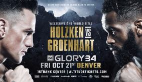 Nieky Holzken vs. Murthel Groenhart 3 for WW Title Bout Set for GLORY 34 Denver on Oct. 21