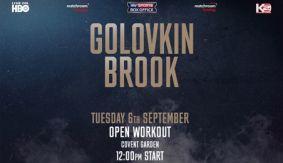 Golovkin Brook Fight Week Schedule