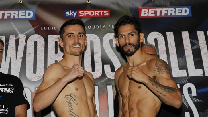 Anthony Crolla vs. Jorge Linares Official Weigh-in Results & Photos