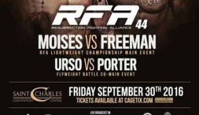 RFA 44: Moises vs. Freeman Official Weigh-in Results – Watch LIVE TONIGHT at 10 p.m. ET on FN Canada & International