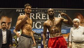 Bryant Perrella vs. Yordenis Ugas Official Weigh-in Results & Photos