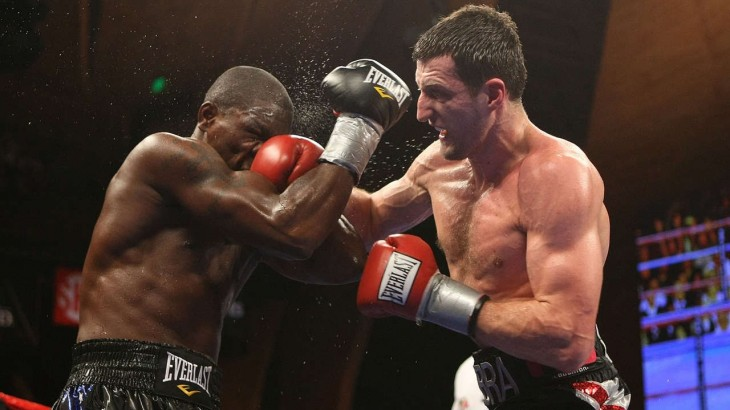 Round 12 of Carl Froch's Comeback to KO Jermain Taylor for WBC Super MW Title from April 25, 2009