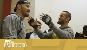 UFC 203 Embedded: Vlog Series Episode 4 – Former WWE Heavyweight Champ Meets UFC Heavyweight Champ