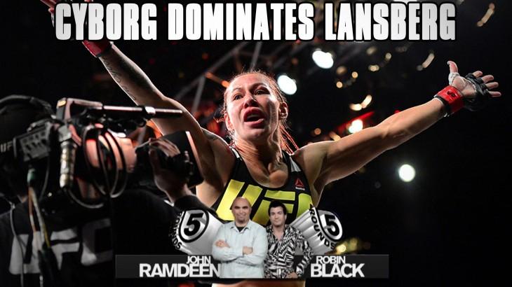 UFC Fight Night Brasilia Recap: Cris Cyborg Dominates Lina Lansberg on 5 Rounds