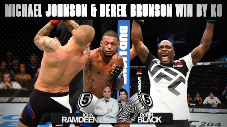 UFC Fight Night Hidalgo Recap: Johnson Knocks Out Poirier, Brunson Finishes Hall on 5 Rounds