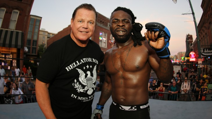"Bellator 162 Open Workout Photos with Bobby Lashley, Jerry ""The King"" Lawler and Kevin ""Baby Slice"" Ferguson Jr."