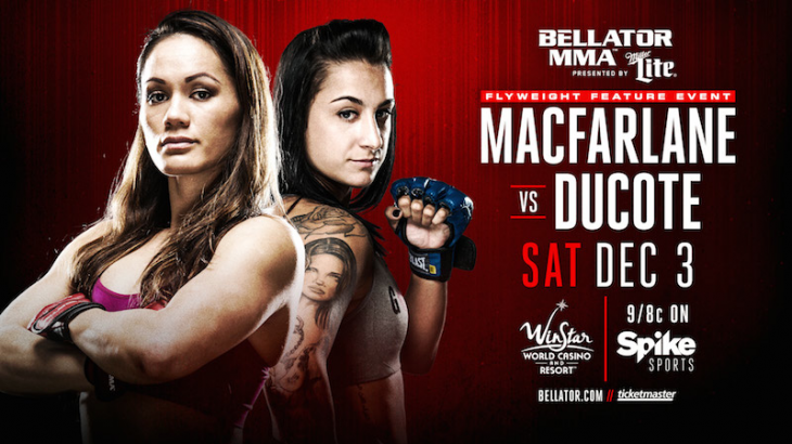 Ilima MacFarlane vs. Emily Ducote Added to Bellator 167 on December 3 in Thackerville