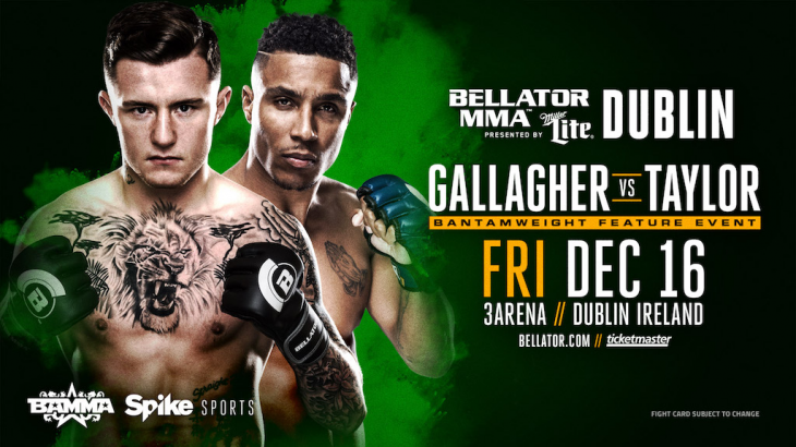 James Gallagher vs. Anthony Taylor Set For Bellator 169 on Dec. 16 in Dublin