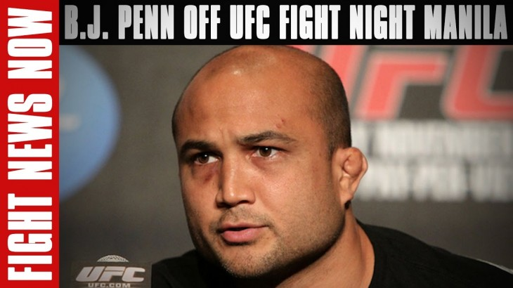 B.J. Penn Off UFC Fight Night Manila with Injury, Khabib Nurmagomedov's Lightweight Title Demands on Fight News Now