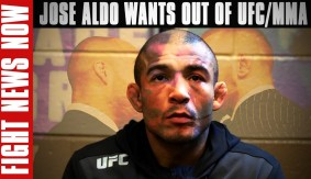 Jose Aldo Allegedly Finished with MMA on Fight News Now