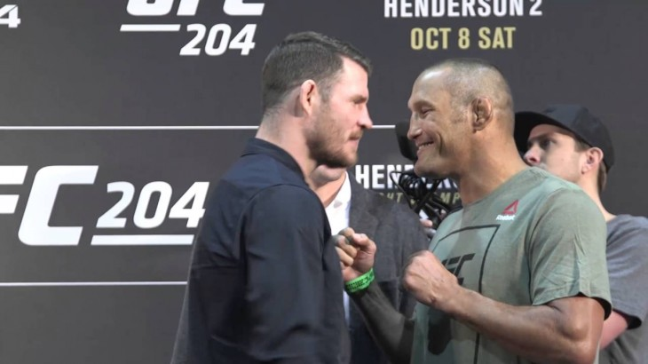 UFC 204: Michael Bisping vs. Dan Henderson Media Day Face-Off