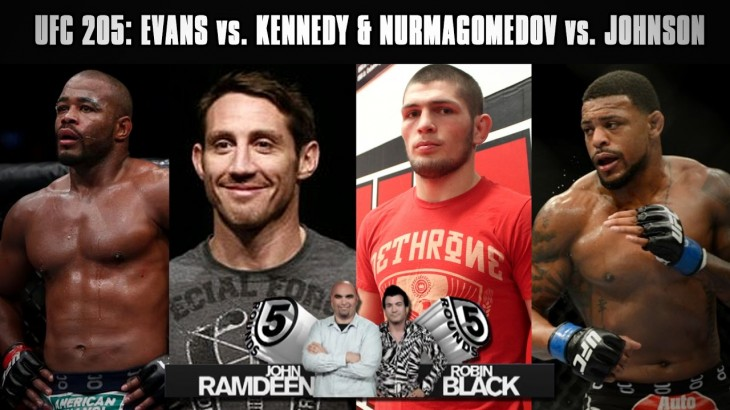 UFC 205 Preview: Rashad Evans vs. Tim Kennedy, Khabib Nurmagomedov vs. Michael Johnson on 5 Rounds
