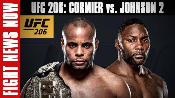 UFC Fight Night Manila Cancelled, UFC 206: Cormier vs. Johnson 2 on Fight News Now