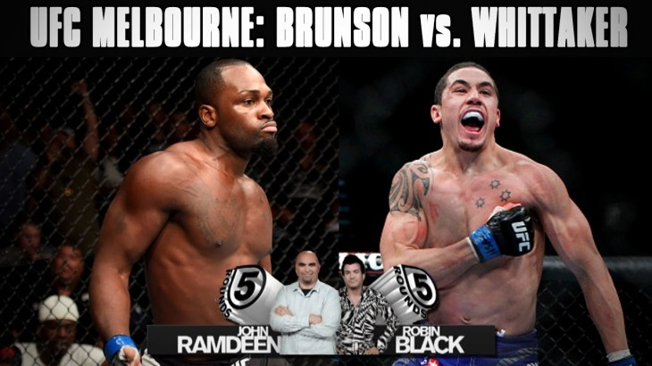 UFC Fight Night Melbourne: Derek Brunson vs. Robert Whittaker Preview on 5 Rounds