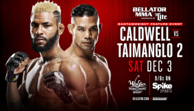 New Co-Main Event for Bellator 166, Caldwell vs. Taimanglo 2 Headlines Bellator 167