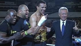 Badr Hari Head Kicks Yusuke Fujimoto from K-1 World Grand Prix 2007 on April 28, 2007