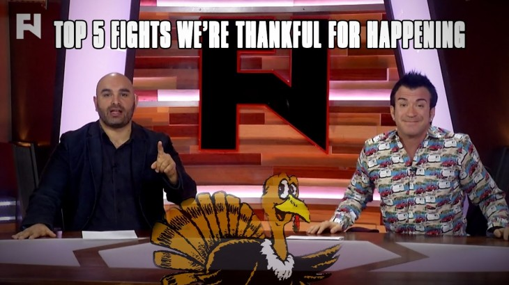 Happy Thanksgiving – Top 5 Fights We're Thankful For Happening