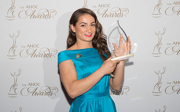 Olympic Gold Medalists Majlinda Kelmendi & Rafaela Lopes Silva Honored at ANOC Awards