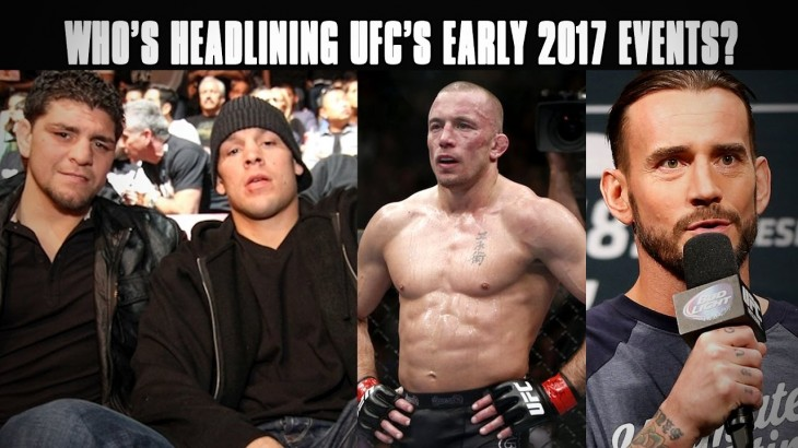 Potential Headliners Available for UFC Including Nick Diaz, Nate Diaz, Georges St-Pierre