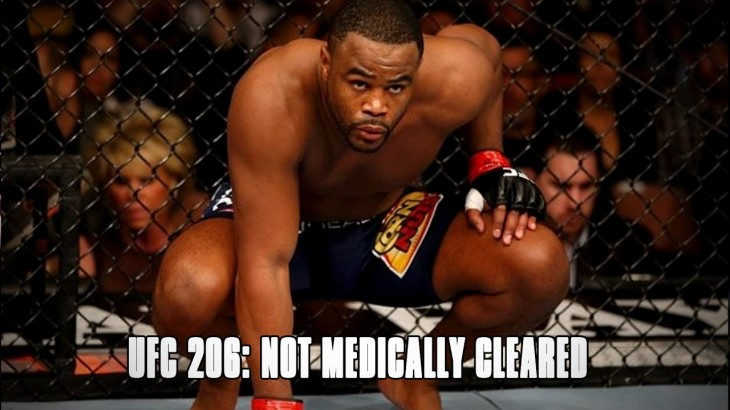 Rashad Evans Not Medically Cleared for UFC 206