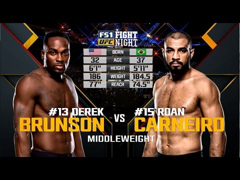 Watch Derek Brunson Stop Roan Carneiro at UFC Fight Night Pittsburgh from Feb. 21, 2016