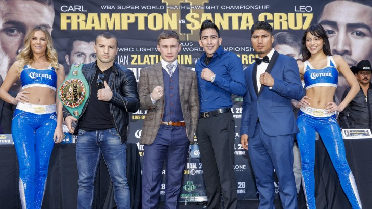 Carl Frampton vs. Leo Santa Cruz, Dejan Zlaticanin vs. Mikey Garcia Los Angeles Press Conference Quotes & Photos