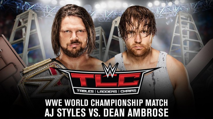 WWE TLC 2016 Report – A.J. Styles vs. Dean Ambrose in a TLC Match