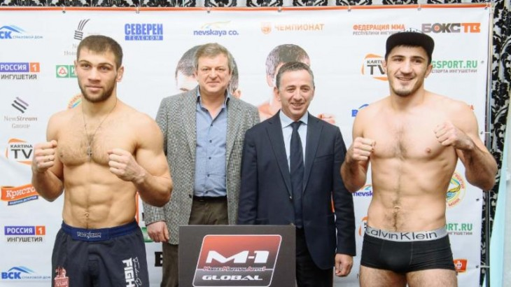 M-1 Challenge 73: Emeev vs. Tokov Weigh-in Results & Photos