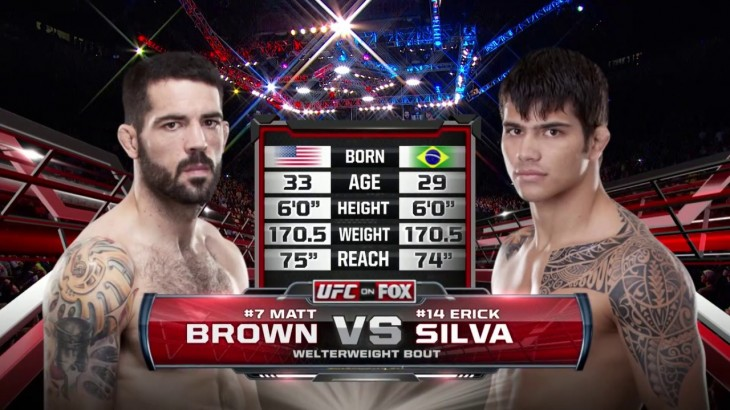 Matt Brown & Erick Silva Go to War at UFC Fight Night Cincinatti from May 10, 2014 – Full Fight