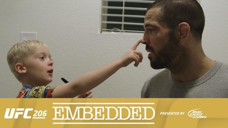 UFC 206 Embedded: Vlog Series Episode 3 – Matt Brown's Media-Trained Son