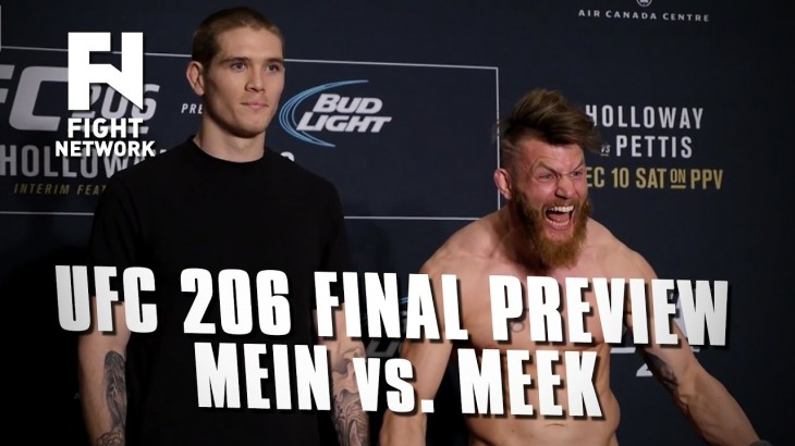 UFC 206 Final Preview: Jordan Mein vs. Emil Meek