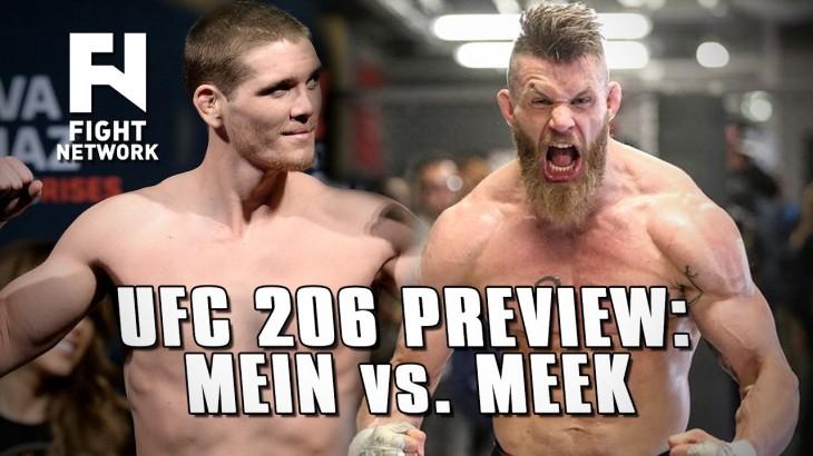 UFC 206 Preview: Jordan Mein Returns vs. Emil Weber Meek